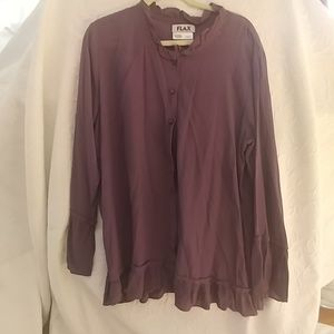 Purple FLAX blouse size Med NWOT